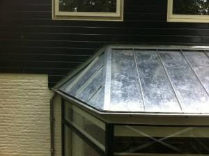 Zinken dak zijkant