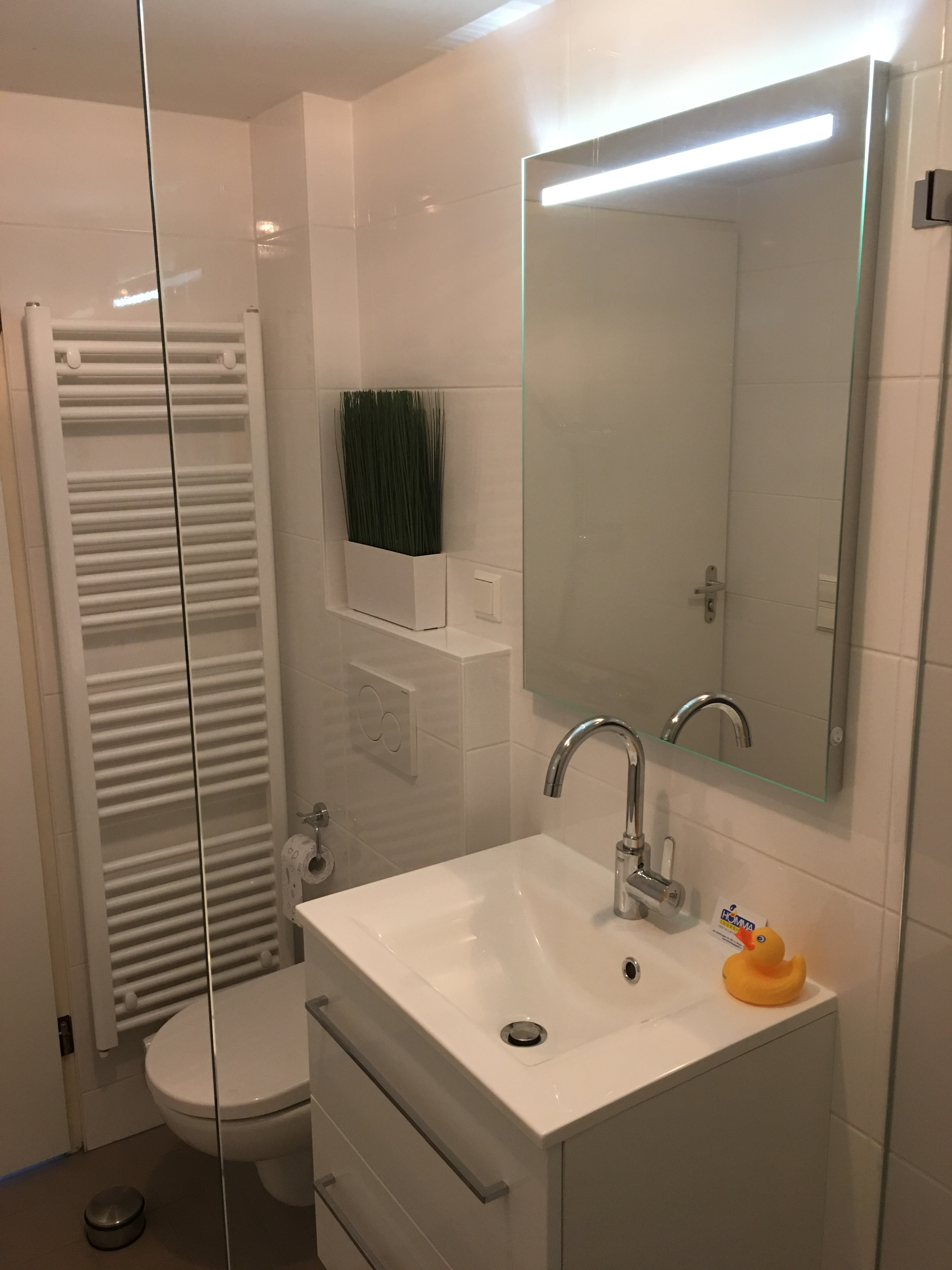 mooie kleine badkamer gerealiseerd in appartement homma loodgieters